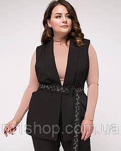 Лаконичный и стильный женский черный жилет больших размеров (Далианlzn)