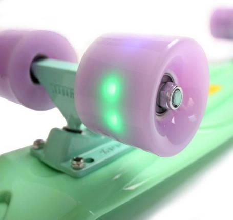 """Скейт """"Penny Board"""" Mint (М'ятний). Світяться колеса, фото 2"""