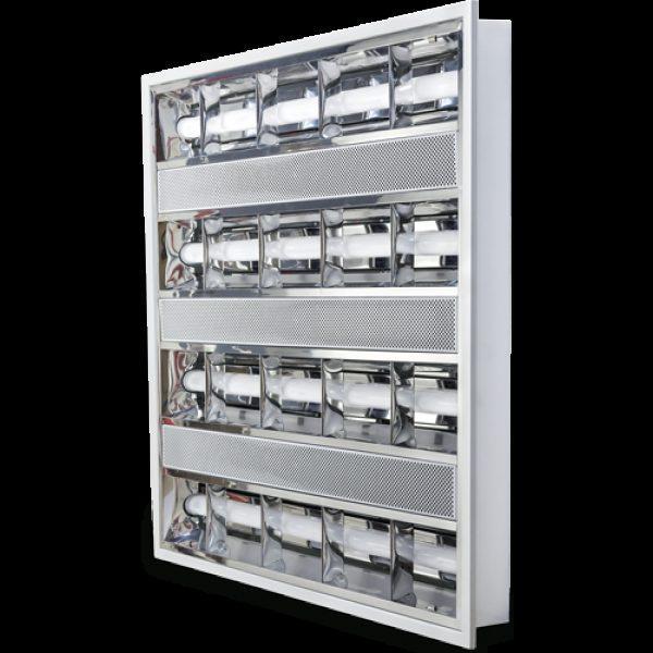 Светодиодный растровый врезной светильник  48W