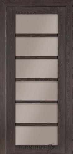Межкомнатная дверь для частного дома Модель 307 Трюфель, остекленная