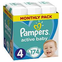 Подгузники Pampers Active Baby 4 (9-14кг) 174 шт.