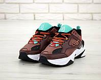 Мужские коричневые Кроссовки Nike M2K Tekno(реплика)