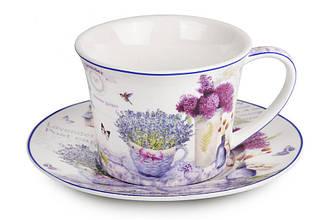 Набор чайный подарочный (чашка + блюдце) LEFARD Лаванда