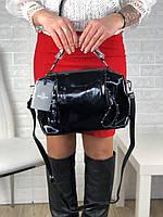 Женская сумка из натуральной лаковой кожи