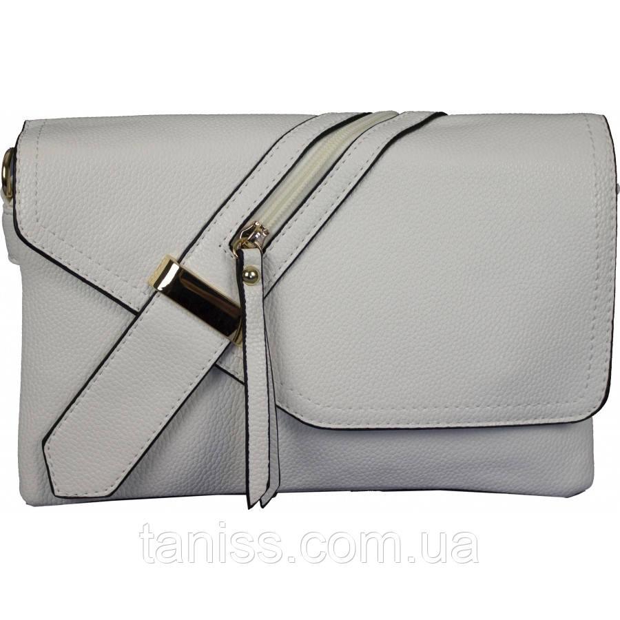 Женская,стильная,элегантная сумка,клатч,материал кожзам. длинная ручка,пять отделений,декор молния(3162)