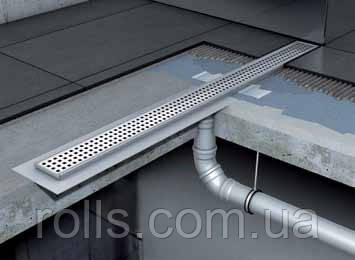 Канал душевой без сифона с вертикальным выпуском с фланцем 1185мм ACO Shower Drain C-line
