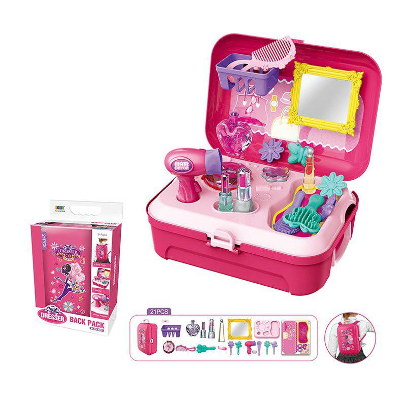 Парикмахерский набор в чемодане-рюкзаке, 21 деталь
