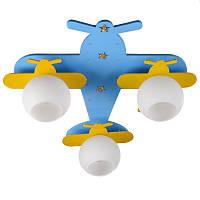 """KL-431C/3 E27 BL/YL светильник для детской """"Самолет"""""""