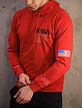 Мужское весеннее худи Nasa (red), красное худи Наса, фото 2