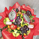 Фруктовый букет подарочный поздравительный для женщины Питахайя с тропическими фруктами, фото 2
