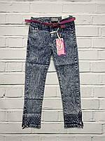 Стрейчевые джинсы для девочек. 110- 128 рост.