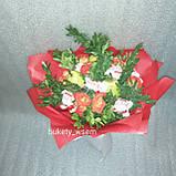 Цветочно- фруктовий букет подарунковий вітальний для жінки Марінет, фото 3