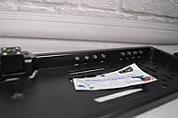 Камера заднего вида в рамке автомобильного номера с LED подсветкой Черная, фото 4