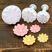 Плунжер   Цветок 5 лист 3 шт (кнопка), фото 1