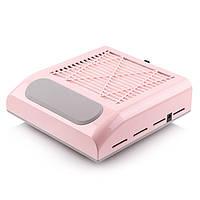 Вытяжка для маникюра Simei 858-8 с НЕРА-фильтром 80W (розовая)