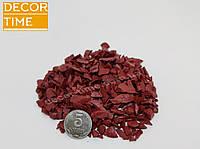 Декоративный цветной щебень (крошка, гравий) , черный (073672) Красный