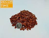 Декоративный цветной щебень (крошка, гравий) , черный (073672) Оранжевый