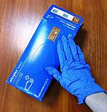 """Перчатки нітрілові сині універсальні Mercator Nitrylex """"XL""""  100 штук або 50 пар., фото 2"""