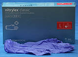"""Перчатки нітрілові сині універсальні Mercator Nitrylex """"XL""""  100 штук або 50 пар., фото 3"""