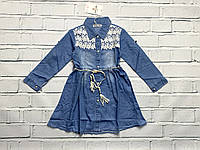 Джинсовое платье для девочек. 3- 8 лет.