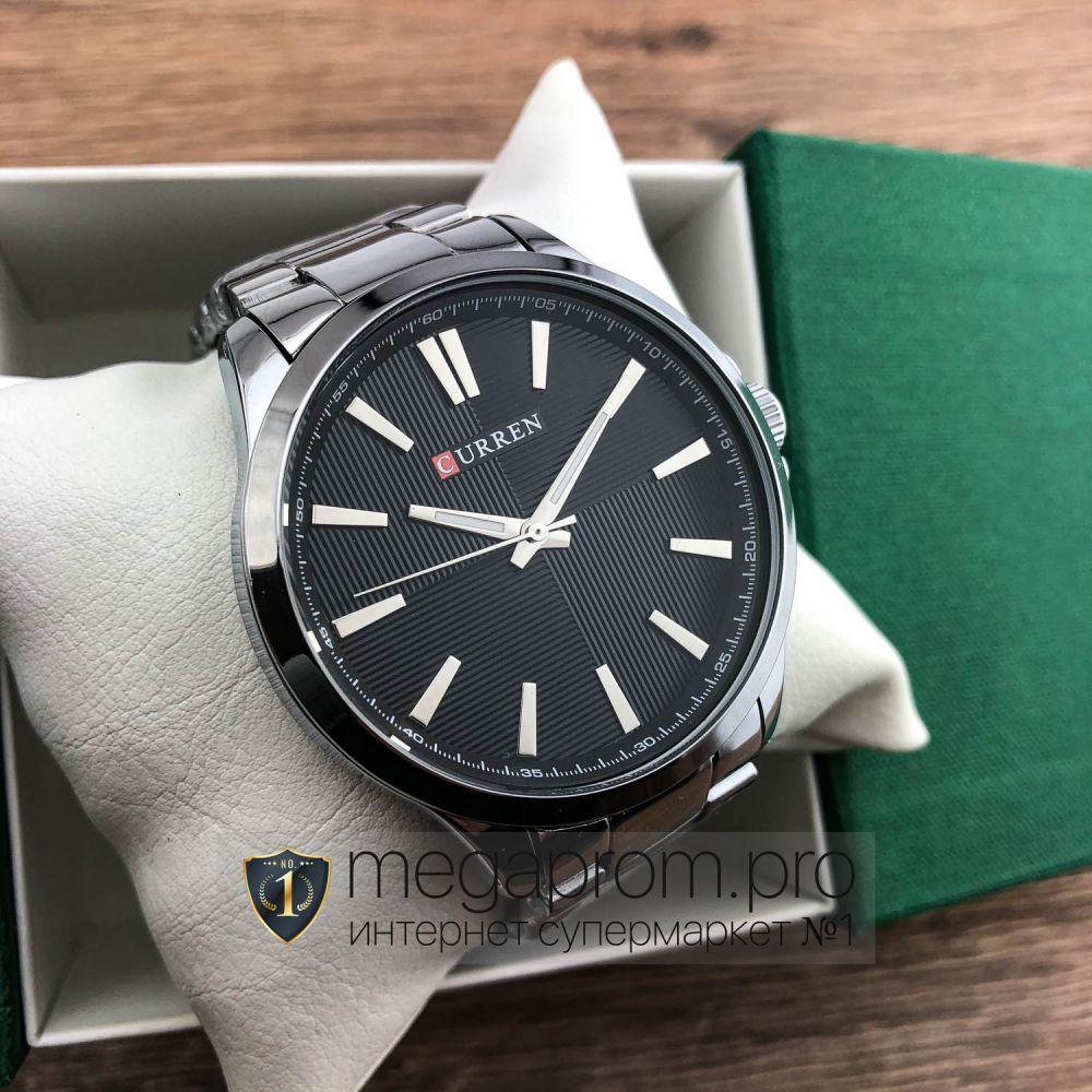Часы Curren сталь с черным циферблатом (08335)