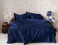Двуспальный комплект. Синее постельное постельное белье