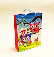 Бумажный подарочный пакет 18х24х7см / уп-12шт совки