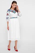 Белое женское платье в украинском стиле, платье вышиванка орнамент размер 42-50, фото 3