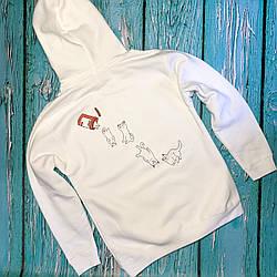 Толстовка белая RipNDip   худи рипндип   кенгурушка