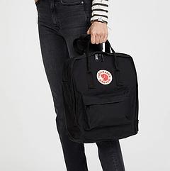 Стильний рюкзак сумка Fjallraven Kanken Classic Чорний / Портфель канкен