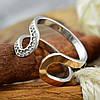 Серебряное кольцо с золотом Эдем вставка белые фианиты вес 2.9 г размер 19, фото 2