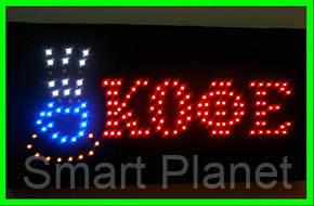 LED Вывеска (КОФЕ) ВидеоОбзор, фото 2