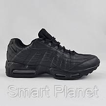 Кроссовки N!ke Air Max 95 Чёрные Кожаные Найк (размеры: 41,43,44,46) Видео Обзор, фото 3