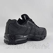 Кроссовки N!ke Air Max 95 Чёрные Кожаные Найк (размеры: 41,43,44,46) Видео Обзор, фото 2