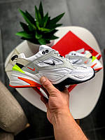 Мужские белые Кроссовки Nike M2K Tekno(реплика)