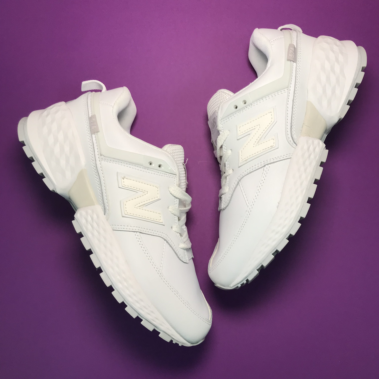 New Balance 574 Full White