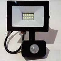 Светодиодный прожектор с датчиком движения 20W 6500K Lemanso черный LMPS27