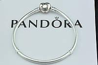 Браслет Pandora Пандора серебряный Оригинал с сертификатом серебро 925 проба замок сердце, фото 1