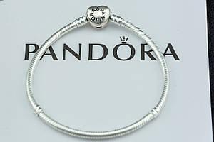 Браслет Pandora Пандора серебряный Оригинал с сертификатом серебро 925 проба замок сердце