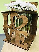 Ваза Подставка с колбами (пробирками) для цветов 15 шт CraftBoxUA