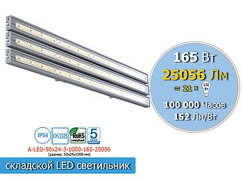 Промышленный LED светильник светодиодный 165Вт, 25056Лм, IP65 (аналог лампы ДРЛ 700Вт)