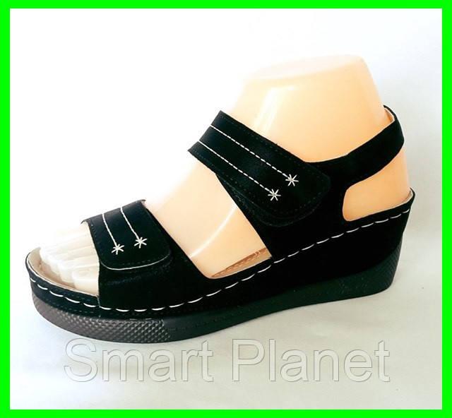 Женские Сандалии Босоножки Летняя Обувь на Танкетке Платформа (размеры: 38)