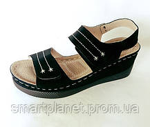 Женские Сандалии Босоножки Летняя Обувь на Танкетке Платформа (размеры: 38), фото 2