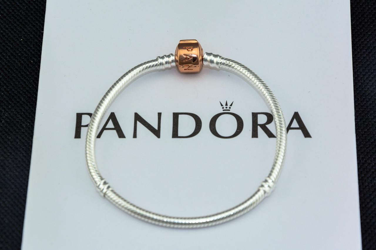 Серебряный браслет Pandora Пандора Оригинал с сертификатом серебро 925 проба основа с замком Pandora Rose