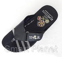 Мужские Шлёпанцы Тапочки ADIDAS Сланцы Вьетнамки Адидас Чёрные (размеры: 41,44), фото 3