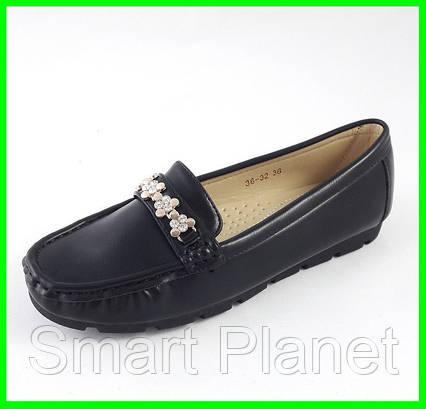 Женские Мокасины Кожаные Чёрны Слипоны (размеры: 36), фото 2