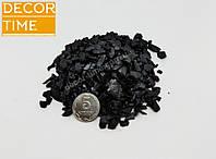 Декоративный цветной щебень (крошка, гравий) , зеленый (83404) Черный