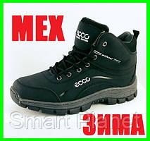 Ботинки ECCO ЗИМА-МЕХ Чёрные Мужские Экко (размеры: 44) Видео Обзор