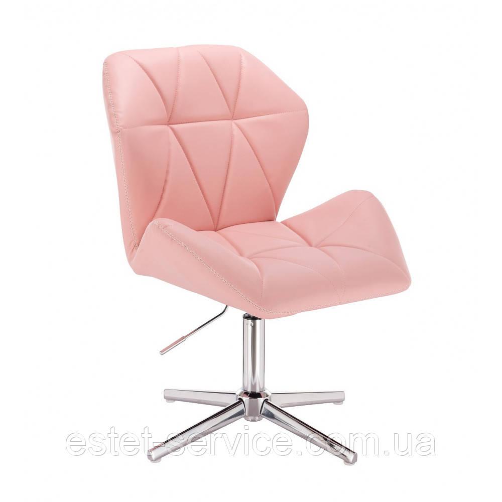 Кресло клиента HR212 на хромированных стопках в ЦВЕТАХ кожзам