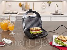 Электро Гриль Сендвичница Бутербродница DOMOTEC Для Горячих Бутербродов Панини, фото 3